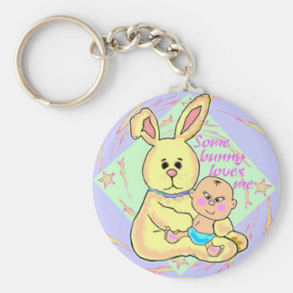 Keychain Some Bunny Loves Me