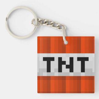 "Keychain Square Single-Sided ""TNT"""