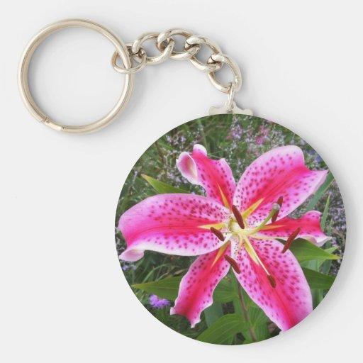 Keychain - Stargazer Lily