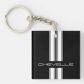 Keychain - Stripes Chevelle - Black/White Duo
