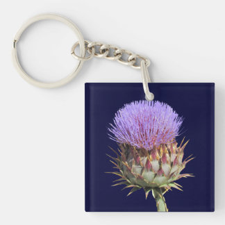Keychain - Thistle and name