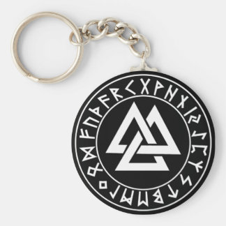 keychain Tri-Triangle Rune Shield on Blk