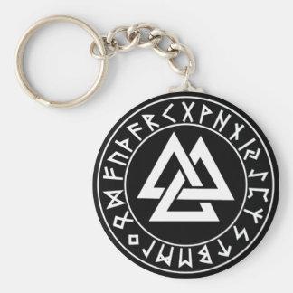 keychain Tri-Triangle Rune Shield on Blk