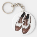 Keychain Two-tone Wing Tip Mens Fashion Shoe