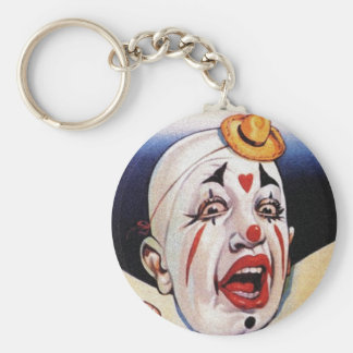 Keychain Vintage Clown Clowning Around Expressions