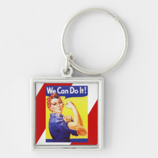 Keychain Vintage Rosie Riveter We can Do campaign