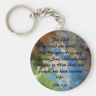 Keychain with Bible Verse John 3:16