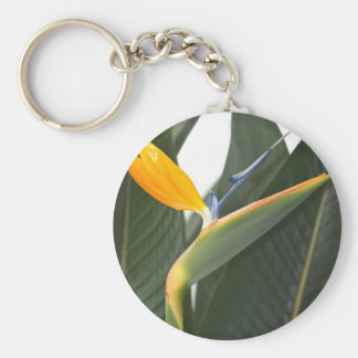 Keychain with Bird of Paradise Flower