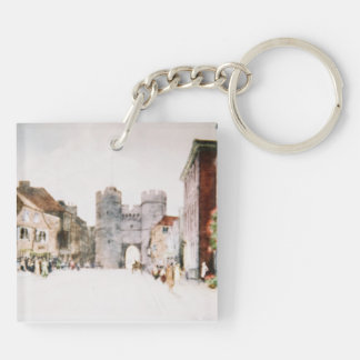 Keychain with 'Canterbury Tower Gate' image