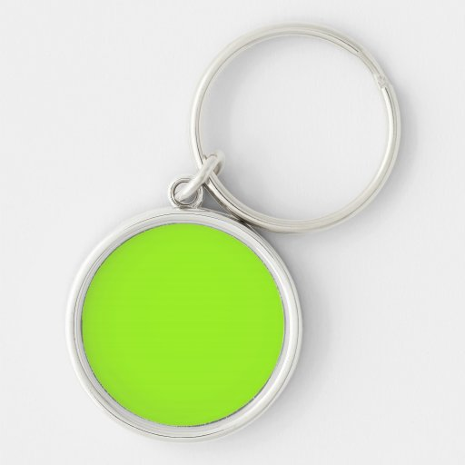 Keychain with Chartreuse Background