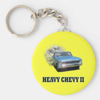 Keychain With Chevy II Drag Racing Design
