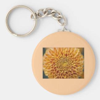 Keychain with Chrysanthemum-grandiflorum Design