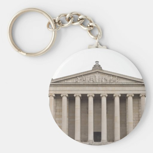 Keychain with Classical Greek Architecture