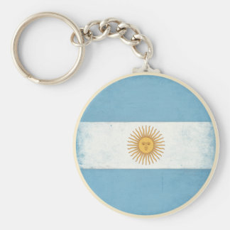 Keychain with Distressed Flag from Argentina