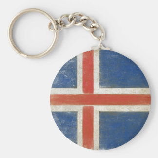 Keychain with Distressed Flag from Iceland