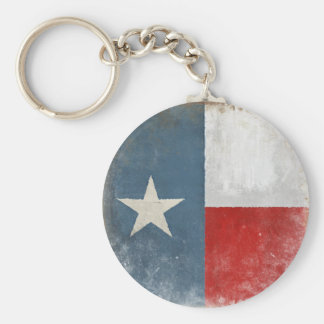 Keychain with Distressed Vintage Texas Flag