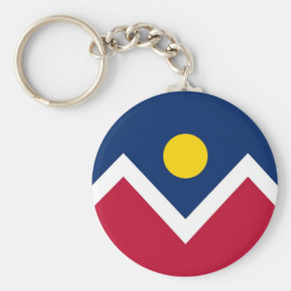 Keychain with Flag of Denver, Colorado State