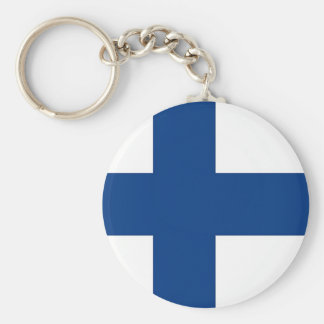 Keychain with Flag of Finland