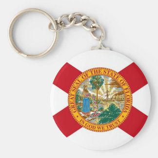 Keychain with Flag of Florida State