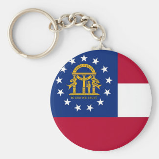Keychain with Flag of Georgia State