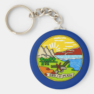 Keychain with Flag of Montana State