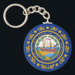 """Keychain with Flag of  New Hampshire State<br><div class=""""desc"""">Keychain with Flag of  New Hampshire State - USA.</div>"""