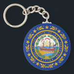 "Keychain with Flag of  New Hampshire State<br><div class=""desc"">Keychain with Flag of  New Hampshire State - USA.</div>"