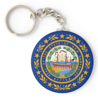Keychain with Flag of  New Hampshire State