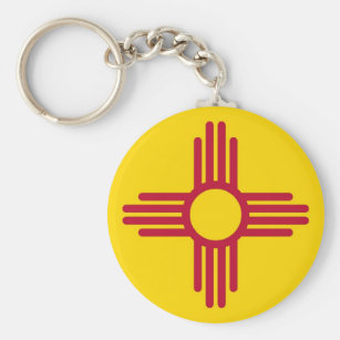 Keychain with Flag of New Mexico State