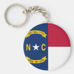 Keychain with Flag of North Carolina State