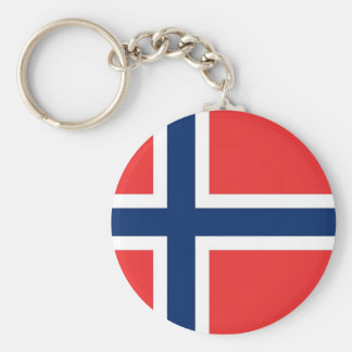 Keychain with Flag of Norway