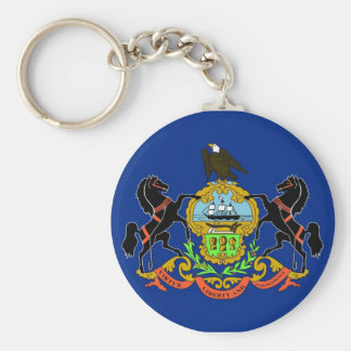 Keychain with Flag of Pennsylvania State