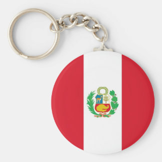 Keychain with Flag of Peru
