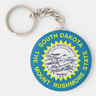 Keychain with Flag of South Dakota State