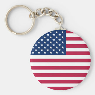 Keychain with Flag of USA