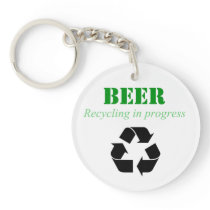 Keychain with funny beer saying
