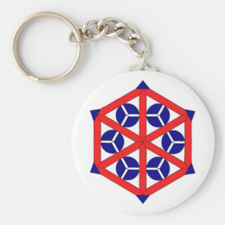 Keychain with Geometric Pattern