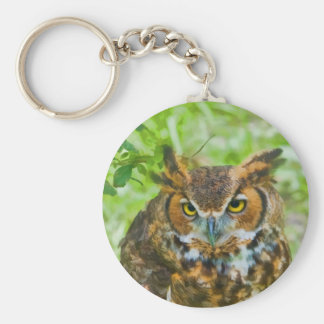 Keychain with Great Horned Owl