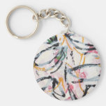 Keychain with Hand Painted Design