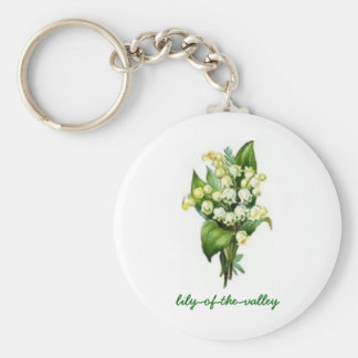 Keychain with Lily-of-the-Valley Design