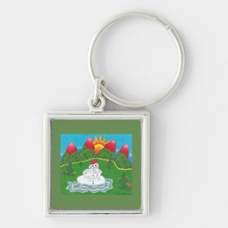Keychain with melting snowman