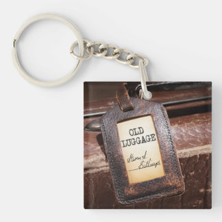 """Keychain with """"Old Luggage"""" Cover"""