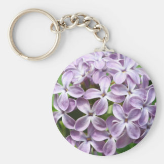 keychain with photo of beautiful purple lilacs