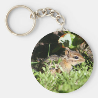keychain with photo of cute chipmunk