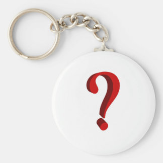 Keychain with question sign