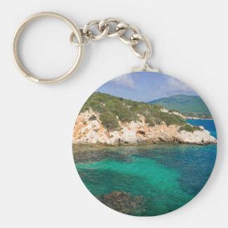 Keychain with sea view from Sardinia.