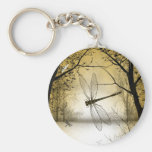 Keychain with trees and dragonflies