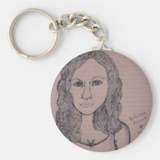 Keychain woman portrait original