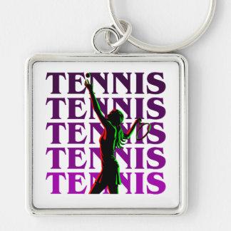 Keychain Women's Tennis 1 Purple Light