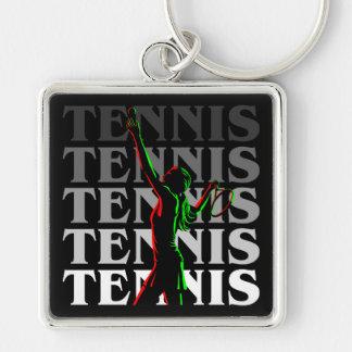 Keychain Women's Tennis 1 White on Dark